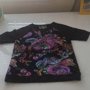 James Coviello short sleeve sweater